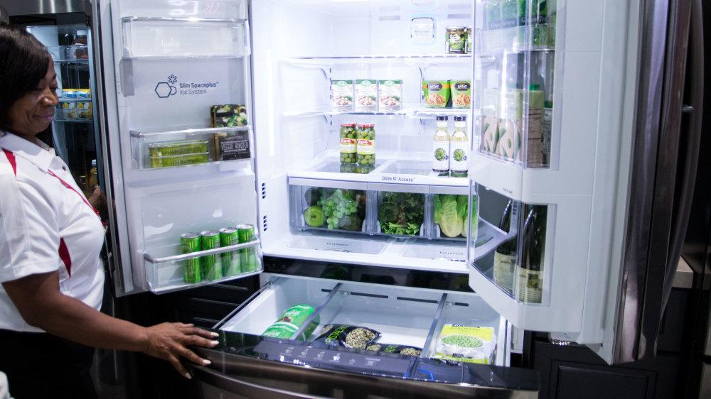 køleskab med tv
