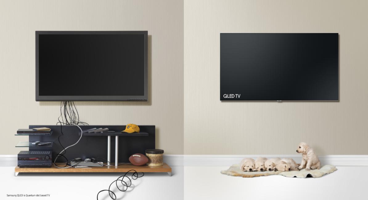 samsung qled tv. Black Bedroom Furniture Sets. Home Design Ideas